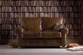 round arm leather sofa