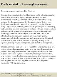 top 8 hvac engineer resume samples hvac technician sample resume