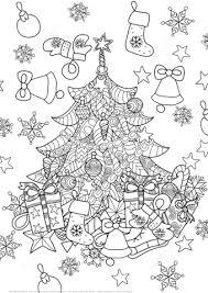 Zentangle Kerstboom Kleurplaat Gratis Kleurplaten Printen