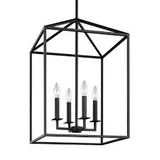 pendant lantern lighting. Perryton 4-Light Blacksmith Hall-Foyer Pendant Lantern Lighting E