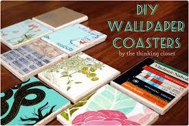 diy wallpaper coasters via the thinking closet