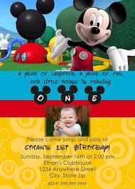 1st Birthday Party Invitation Template Kids Birthday Party Invitation Template Mickey Mouse