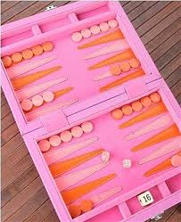 specialty gifts baja pink leather backgammon set