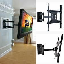 tv bracket double arm tilt