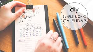 Diy Simple Chic Desktop Calendar Youtube