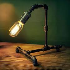 edison table lamp vintage home lighting. Retro Vintage Water Pipe Edison Bulb Table Lamp Light Home Bar Decor Edison Table Lamp Vintage Home Lighting