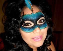 masquerade glitter mask tutorial last minute halloween costume you