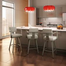 Modern Kitchen With Bar Modern Kitchen Bar Stools With Red Round Lamps Kitchen