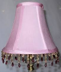 pink lamp shade beaded fringe 6 w