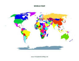 This Printable World Map Shows All Of The Continents With