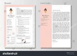Feminine Resume Infographic Design Stylish Cv Stock Vector