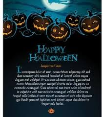 Free Vector Of Happy Halloween Template With Evil Pumpkins-Vector ...