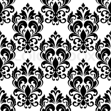 black and white vintage floral wallpaper. Unique White Black And White Vintage Floral Seamless Pattern Background With Arabesque  Elements In Damask Style For Wallpaper Or Textile Design  Stock Vector  For And White Vintage Floral Wallpaper T