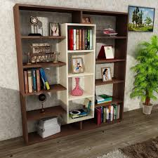 buy ample bookcase oak brown at modern furniture deals for only £