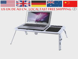 portable laptop lap desk foldable table e table bed with usb laptop lap