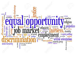 Equal Opportunity Issues And Concepts Word Cloud Illustration