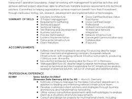 Sample Solution Architect Resume Doc Professional Senior Solutions