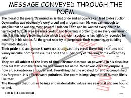 ozymandias by pb shelley  click to continue back to menu 21