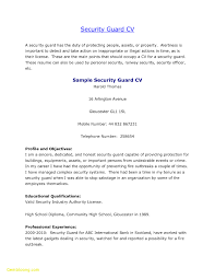 Sample Resume For Entry Level Security Officer New Entry Level