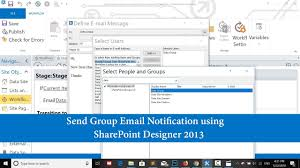 Sharepoint Designer 2010 Workflow Email Html Table Sharepoint Designer 2013 Send An Email Notification To Custom Sharepoint Group