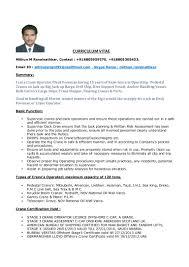 Crane Operator Resume Objective Eliolera Com
