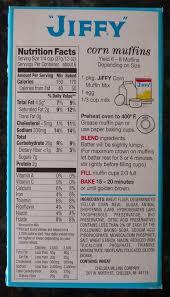 jiffy cornbread nutrition. Simple Jiffy JiffyCornbreadmixlabeljpg On Jiffy Cornbread Nutrition O
