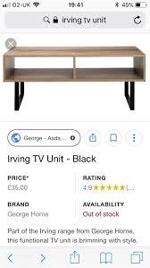 irving asda tv unit new