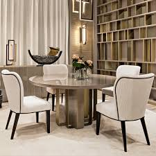 luxury italian designer dining table and chairs set