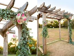 diy fl wedding pergola and diy eucalyptus garland