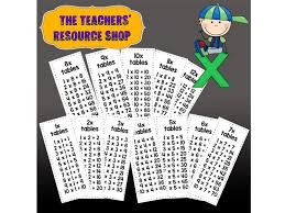 1 12 Times Tables Strips Charts