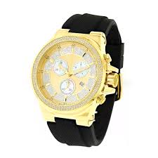 diamond joe rodeo watches for men women mens joe rodeo liberty diamond watch 1 5ct yellow gold plated