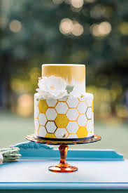 Designer Cakes Charlotte Nc Honeycomb Wedding Cake By The Celestial Cakery At The Dairy