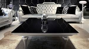 modern square coffee table with black marble top and wooden base painted with silver color for living room with tufted leather sofa with wing back ideas