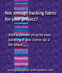 Not enough quilt backing fabric... & Not enough quilt backing fabric. Adamdwight.com