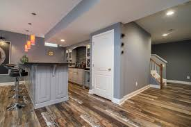 our services include flooring in this basement
