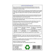 Hydra Aqua Dechlorinator Dechlorine Tap Water