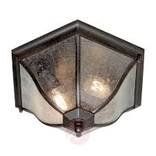 bronze coloured outdoor ceiling lamp new england 3048373 01