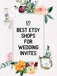 10 Of The Best Etsy Shops For Wedding Invitations Woman