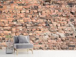 photo wallpaper old brick wall