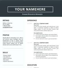 Resumes Word Format Download Resumes In Word Format Word Resume Formats Clean Resume