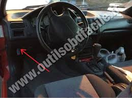 obd2 connector location in toyota paseo 1995 1999 outils obd toyota paseo dashboard