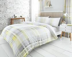 picture 2 of yellow grey quilt cover
