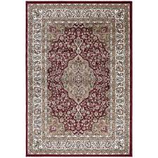 ottomanson traditional medallion red 9 ft x 13 ft area rug