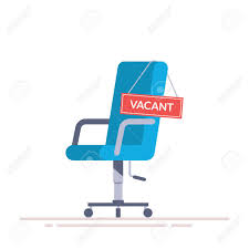 office chair comfortable. Comfortable Office Chair With A Vacancy Sign. Stock Vector - 75264236 S