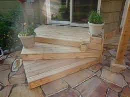 patio steps pea size x: love the contrast of the wood and stone i could maybe even just use pallets