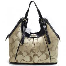 Coach In Monogram Medium Khaki Satchels BXO