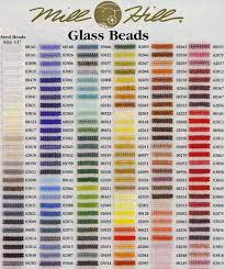 Bead Color Chart Mill Hill Beads Color Chart