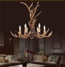 retro antler chandelier light retro deer horn restaurant dining pendant lamp