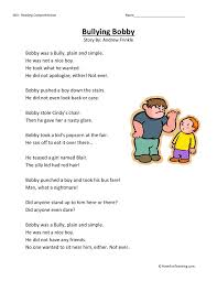 Free Bullying Worksheets for First Grade | Homeshealth.info