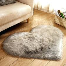 cilected gray rose white heart shaped faux fur rugs and carpets for fake fur rugs faux